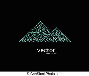 Vector illustration of mountain range.