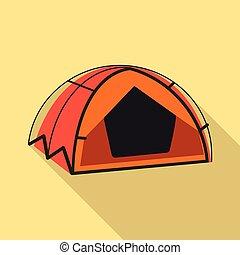 Vector illustration of mountaineering and peak logo. ...