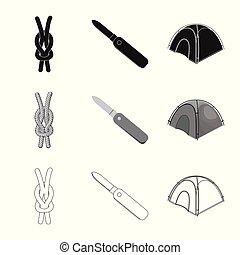 Vector illustration of mountaineering and peak symbol. ...