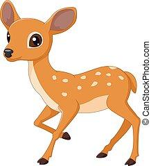 Vector illustration of Mouse Deer cartoon