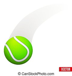 Vector illustration of moving tennis ball