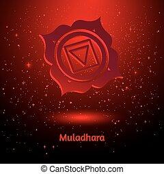 Muladhara chakra. - Vector illustration of Muladhara chakra.