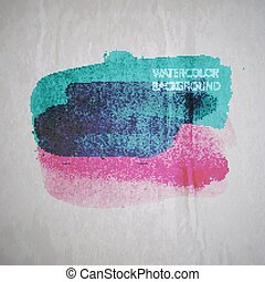 vector illustration of multicolored watercolor stain or blotch o