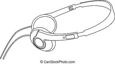 vector illustration of music headphones.