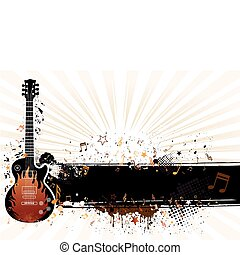 vector illustration of musical them