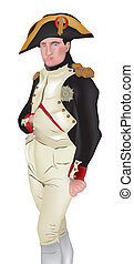 Vector illustration of Napoleon Bonaparte, isolated on white background