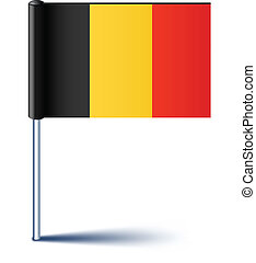 Vector illustration of national Belgian flag.