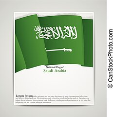National flag brochure of Saudi Arabia - Vector illustration...