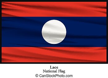 national flag of laos