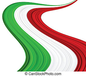 Italian flag. - Vector illustration of national Italian...