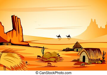 Natural Landscape of sand dune in Desert