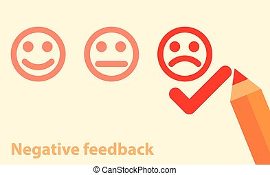 negative feedback concept - Vector illustration of negative...