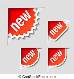 New labels - Vector illustration of New labels