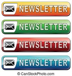 newsletter buttons