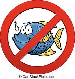 No fishing - Vector illustration of No fishing sign