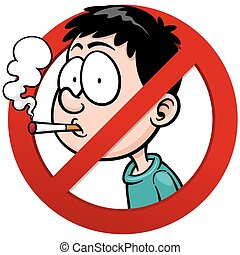 Vector illustration of No smoking sign