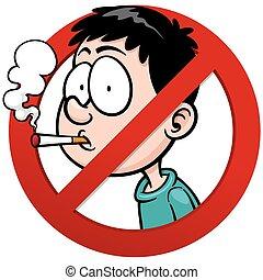 No smoking - Vector illustration of No smoking sign