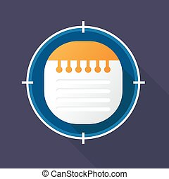 Vector illustration of notebook icon