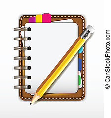 notepad for you design - vector illustration of notepad for...