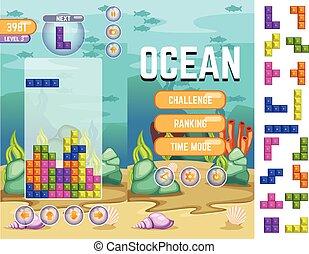 Ocean Tetris Game Kit