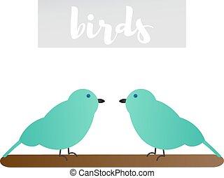 Vector illustration of of sparrows - Vector illustration of...
