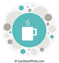 Vector Illustration Of Office Symbol On Cup  Icon. Premium Quality Isolated Mug  Element In Trendy Flat Style.