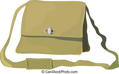 Vector illustration of old bag