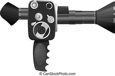Vector illustration of old cameras
