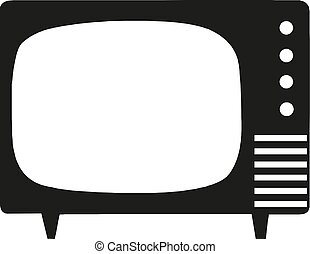 Vector illustration of old-fashioned TV