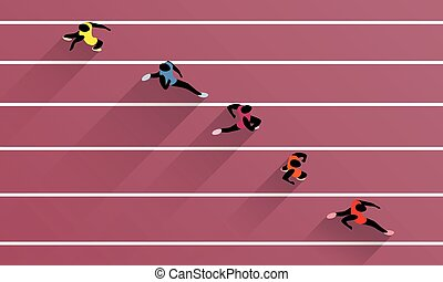 Olympic Games Track And Field - Vector Illustration Of ...