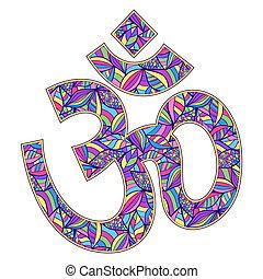 Om symbol - Vector illustration of Om symbol on white ...