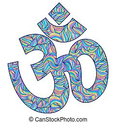 Om symbol on white background