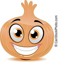 Onion Mascot - Vector Illustration of Onion Mascot