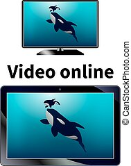 Vector illustration of online video