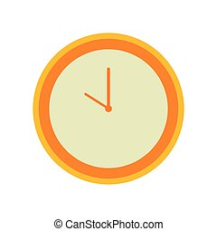 Vector Illustration of Orange Clock Icon
