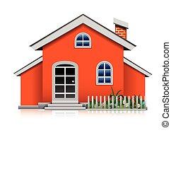 orange house isolated
