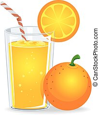 Orange Juice - Vector Illustration of Orange Juice
