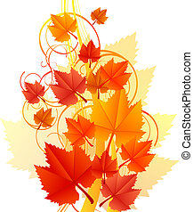 Vector illustration of orange leave