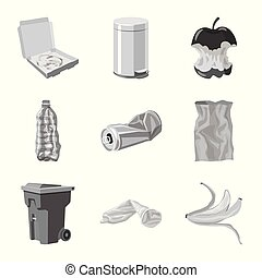 Vector illustration of order and recycling icon. Set of order and sort stock vector illustration.