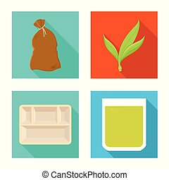 Vector illustration of organic and environmental icon. Set of organic and tropical vector icon for stock.