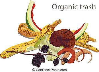 Vector Illustration of Organic Garbage.