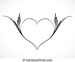 Vector illustration of ornamental heart