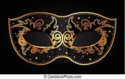 Vector illustration of ornate mask