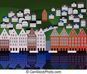 Vector illustration of Oslo