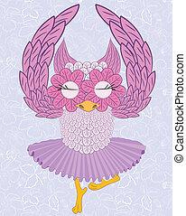 owl ballerina