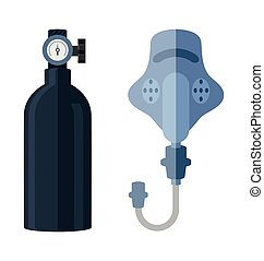 oxygen cylinderl - Vector Illustration of oxygen cylinderl ...