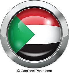 Palestine flag metal button