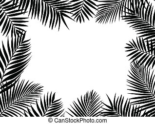 Palm leaf silhouette - Vector Illustration Of Palm leaf...