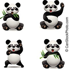 Panda cute cartoon animal