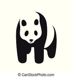 Panda icon on a white background